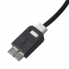 KS-318 High Speed USB 3.0 to Micro-B Data Charging Cable for Samsung Galaxy Note 3 - Black + White