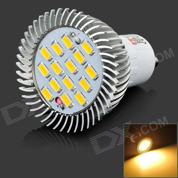 LeXing LX-SD-056 GU10 6W 400lm 3500K 15-SMD 5730 LED Warm White Spotlight (220~240V) lexing lx qp 20 e14 6w 470lm 3500k 15 5730 smd led warm white light dimmable lamp ac 220 240v