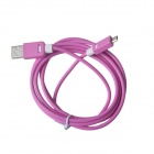 KS-308 Universal USB 2.0 to Micro USB Data / Charging Cable for Samsung / HTC - Deep Pink (149cm)