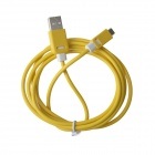 KS-308 Universal USB 2.0 to Micro USB Data / Charging Cable for Samsung / HTC - Yellow (149cm)