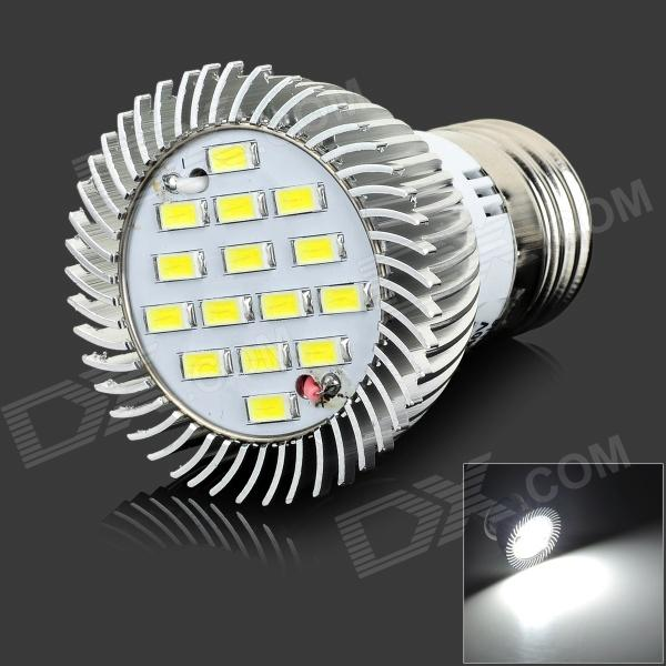 lexing LX-SD--059 E27 6W 420lm 7000K 15-5730 SMD LED White Light Lamp - White + Silver (AC 220~240V) lexing lx qp 20 e14 6w 470lm 3500k 15 5730 smd led warm white light dimmable lamp ac 220 240v