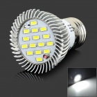 lexing LX-SD--059 E27 6W 420lm 7000K 15-5730 SMD LED White Light Lamp - White + Silver (AC 220~240V)