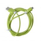 KS-308 Universal USB 2.0 to Micro USB Data / Charging Cable for Samsung / HTC - Green (149cm)