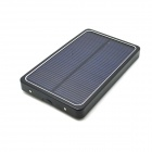 "Solar Powered ""4000mAh"" External Battery Power Bank - Black"