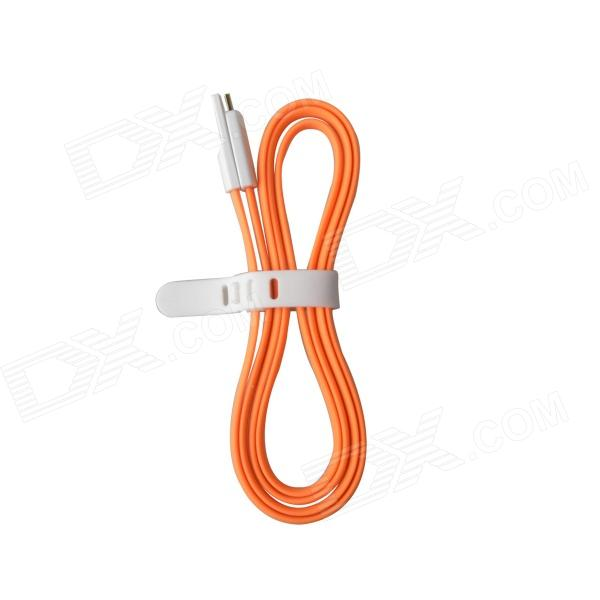 Magnetic USB to Micro USB Charging Data Cable for Samsung / HTC / Blackberry - Orange (100cm) 103b universal usb to micro usb data charging cable for samsung htc more deep pink 100cm