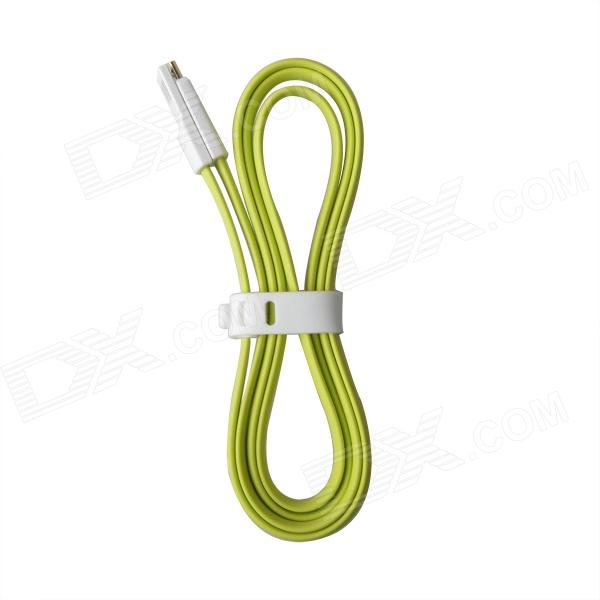 Magnetic USB to Micro USB Charging Data Cable for Samsung / HTC / Blackberry - Green + White (100cm) 103b universal usb to micro usb data charging cable for samsung htc more deep pink 100cm