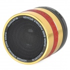 Portable Bluetooth V3.0 Speaker w/ TF / FM / Hands-Free Calls - Golden + Red + Multi-Colored