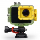 "Waterproof 2.0"" LCD 1080P H.264 8.0 MP CMOS Sport Diving DVR Camcorder - Yellow + Green"