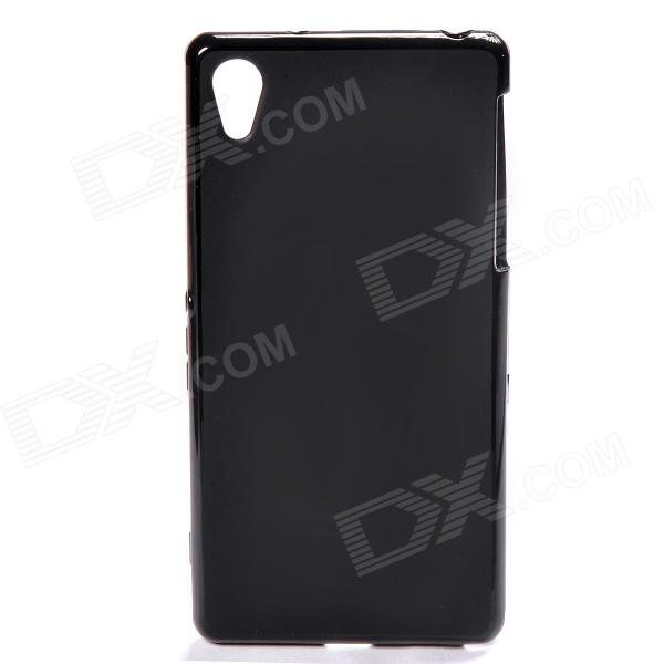 Protective TPU Back Case for Sony Xperia Z2 - Black 2 in 1 protective tpu pc back case for sony xperia z2 l50w white