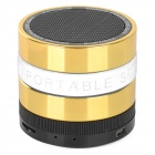 Portable Bluetooth V3.0 Speaker w/ TF / FM / Hands-Free Calls - Golden + White + Multi-Colored