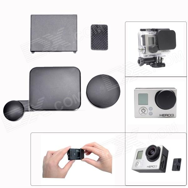 Fat Cat A-AD 4-in-1 Camera Lens + Interface + Housing + Battery Cap Set for GoPro Hero3 - Black social housing in glasgow volume 2