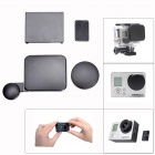 4-in-1 Camera Lens + Interface + Housing + Battery Cap Set for GoPro Hero 3 - Black