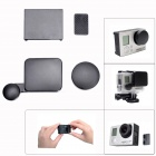Fat Cat A-AD+ 4-in-1 Camera Lens + Interface + Housing + Battery Cap Set for GoPro Hero3+ - Black