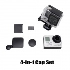 A-AD+4-in-1CameraLens+Interface+Housing+BatteryCapSetforGoProHero3+-Black