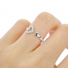 Closer Hearts Style Copper Plating Silver Ring for Women - Silver