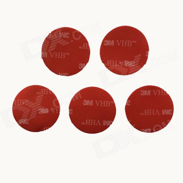3M VHB 32mm 3M Sticker for Gopro Hero 4/ 1/2/3/3+ - Red (5 PCS) pannovo waterproof pu leather extra thick anti shock eva case for gopro hero 4 3 3 2 sj4000