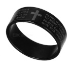Titanium Steel Finger Ring for Men - Black + White