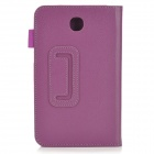 Beskyttende PU Leather Case for Samsung Galaxy Tab 3 7.0 T210 / T211 / P3200 / P3210 - Lilla