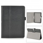 Stylish Protective PU Leather Case w/ Hand Strap Holder for Samsung Galaxy Tab Pro 10.1 - Black
