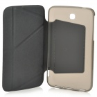 Transformable beskyttende PU skinn + PC tilfelle for Samsung Galaxy Tab 3 7.0 T210 / T211 - svart