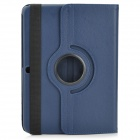 Protective PU Leather Case w/ Stylus Pen for Samsung Galaxy Tab 3 10.1 P5200 / P5210 - Dark Blue