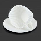 Silicone + Plastic Muffin Cake Mold Set - White (4 Sets)