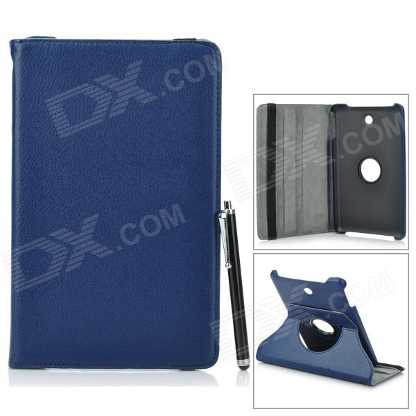 Protective PU Leather Case for Dell Venue 8 - Dark Blue