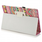 Stylish Protective PU Leather Case for Sony Xperia Tablet Z - Red + Multicolor