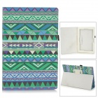 Stylish Protective PU Leather Case for Sony Xperia Tablet Z - Green + Blue + Multicolor
