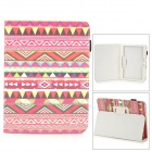 Stylish Protective PU Leather Case for Samsung Galaxy Tab 3 10.1 P5200 - Red + Multicolor