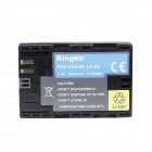 Kingma LP-E6 1400mAh Doble batterier w / US Plugsss lader for Canon Camera - svart (100 ~ 240V)