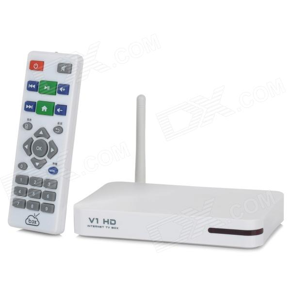 hd wireless internet tv box w wi fi dlna usb remote control white free shipping. Black Bedroom Furniture Sets. Home Design Ideas