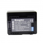 Kingma BP-727 2670mAh Doble batterier w / US Plugss lader for Canon Camera - svart (100 ~ 240V)