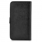 "Universal Slide Style PU Leather Case for 4.0"" Cell Phone - Black"
