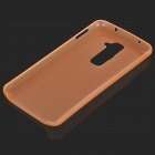Protective Plastic Back Case for LG Optimus G2 - Translucent Orange