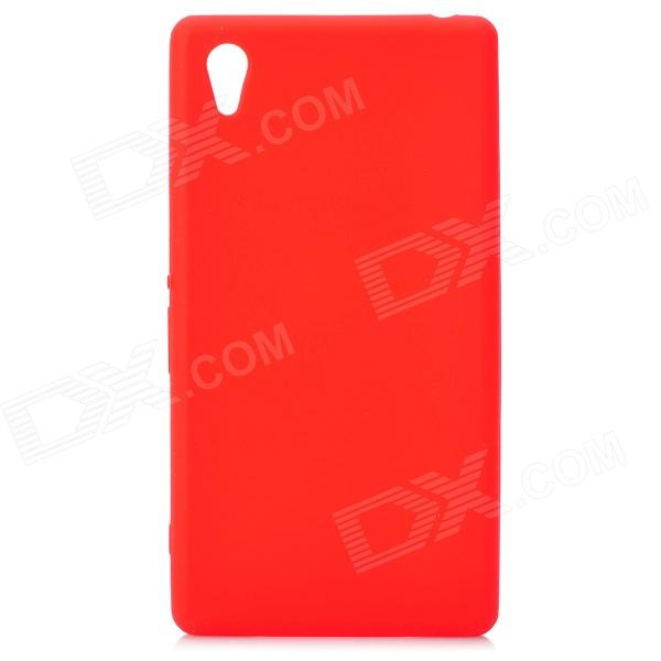 Stylish Protective Silicone Back Case for Sony Xperia Z1 / L39H / C6902 - Red