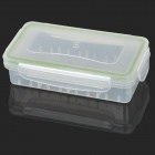 Protective Waterproof Storage Box for 2 x 18650 Batteries - White + Green
