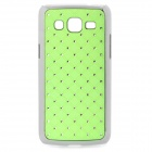 Stylish Protective Rhinestone ABS Back Case for Samsung G3812 - Green + Silver