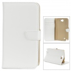 DYTI-071 Protective PU Leather + PC Case for Samsung N7100 - White