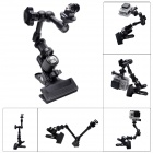 Fat Cat M-CA2 Clamp Mount w/ Extension Magic Arm for Gopro Hero 4/ 3+ / 3 / 2 / 1 / SJ4000 - Black