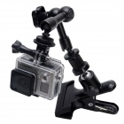 Fat Cat M-CA2 Grampo Mount w / Extensão Magic Arm para GoPro Hero 4/3 + / 3/2/1 / SJ4000 - Preto