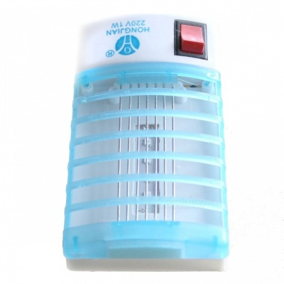 Electric Mosquito Killing Lamp - White + Light Blue (EU Plug)