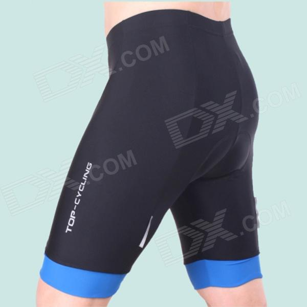 TOP CYCLING SAK206 Silicone Pad Cycling Quick-Drying Short Pants - Black + Blue (Size L) universal nylon cell phone holster blue black size l