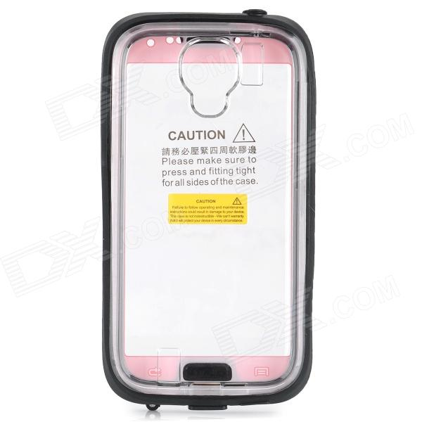 Stylish Waterproof Case for Samsung S3 / S4 - Pink + Black