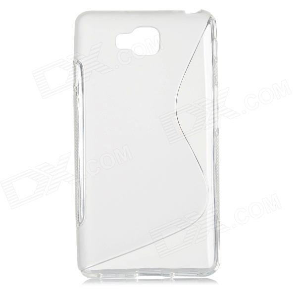 S Pattern Protective TPU Back Case for LG Optimus L9 II / D605 - Translucent White