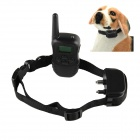 "Petrainer 998DR-1 0.9"" LCD USB Rechargeable Remote Pet Training Collar - Black"
