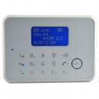 "3"" LCD GSM PSTN SMS Touch Wireless Security Alarm System / Remote Two-Way Intercom - White"