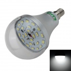 LUO E14 12W 1000lm 6500K 24-SMD 5630 LED White Light Bulb - Silver + Transparent (85~265V)