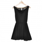 Fashion Milk Silk Dress - Black (Size M)