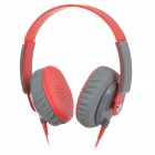 Yongle EP12 3.5mm Headband Stereo Headphone w/ Microphone for Cellphone + More - Red + Deep Grey